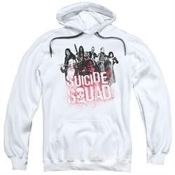 Suicide Squad Hoodie Splatter White Sweatshirt Hoody