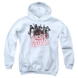 Suicide Squad Kids Hoodie Splatter White Youth Hoody