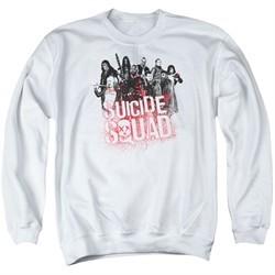 Suicide Squad Sweatshirt Splatter Adult White Sweat Shirt
