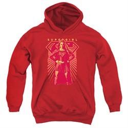 Supergirl Kids Hoodie Ready Set Red Youth Hoody