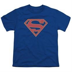 Supergirl Kids Shirt Logo Royal Blue T-Shirt