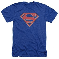Supergirl Shirt Logo Heather Royal Blue T-Shirt