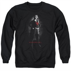 Supergirl Sweatshirt Noir Adult Black Sweat Shirt