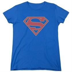 Supergirl Womens Shirt Logo Royal Blue T-Shirt