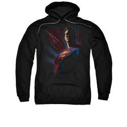 Superman Hoodie Shadows Black Sweatshirt Hoody