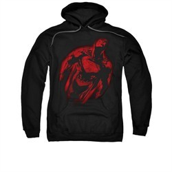 Superman Hoodie Sprayed Red Black Sweatshirt Hoody