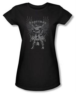 Superman Juniors T-shirt DC Comics Man Of Steel Black Tee Shirt