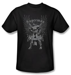Superman Kids T-shirt DC Comics Man Of Steel Black Tee Youth