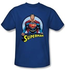 Superman Kids T-shirt Flying High Again Royal Blue  Tee Youth