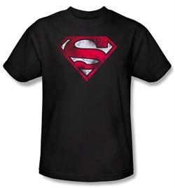 Superman Kids Shirt War Torn Shield Logo Youth Superhero Tee T-Shirt