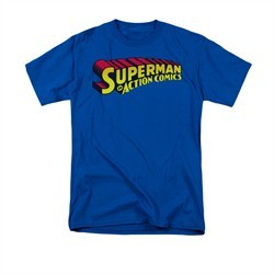 Superman Shirt Action Comics Royal T-Shirt