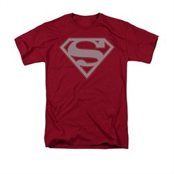 Superman Shirt Crimson & Gray Cardinal T-Shirt