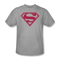 Superman Shirt Crimson Shield Athletic Heather T-Shirt