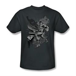 Superman Shirt Fight And Flight Charcoal T-Shirt