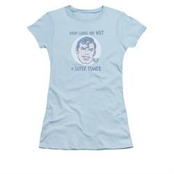 Superman Shirt Juniors Good Looks Light Blue T-Shirt