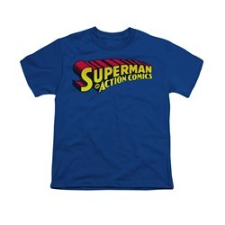 Superman Shirt Kids Action Comics Royal T-Shirt