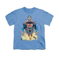 Superman Shirt Kids Explosions Carolina Blue T-Shirt