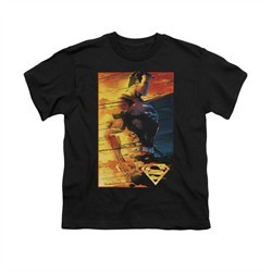 Superman Shirt Kids Fireproof Black T-Shirt