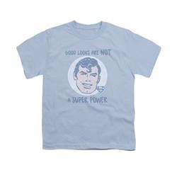 Superman Shirt Kids Good Looks Light Blue T-Shirt