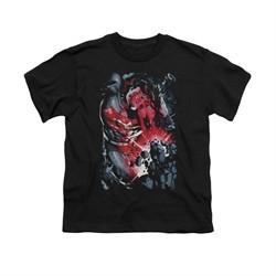 Superman Shirt Kids Heat Vision Black T-Shirt