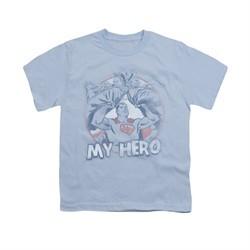 Superman Shirt Kids My Hero Light Blue T-Shirt