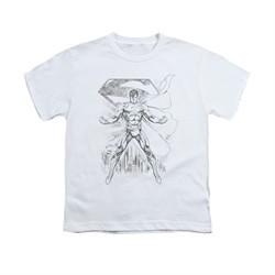 Superman Shirt Kids Sketch White T-Shirt