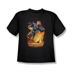 Superman Shirt Kids Space Case Black T-Shirt