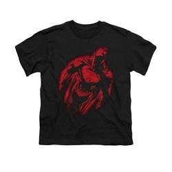 Superman Shirt Kids Sprayed Red Black T-Shirt