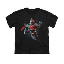 Superman Shirt Kids Up In The Sky Black T-Shirt