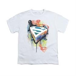 Superman Shirt Kids Urban Shield White T-Shirt
