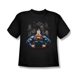 Superman Shirt Kids Villians Black T-Shirt