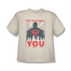 Superman Shirt Kids Watching You Cream T-Shirt