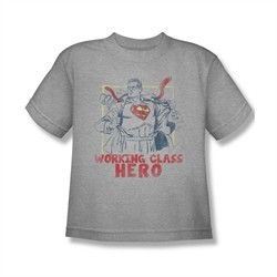 Superman Shirt Kids Working Class Hero Athletic Heather T-Shirt