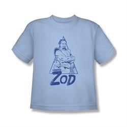 Superman Shirt Kids Zod Light Blue T-Shirt