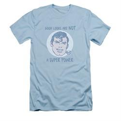 Superman Shirt Slim Fit Good Looks Light Blue T-Shirt