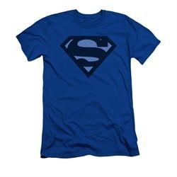 Superman Shirt Slim Fit Navy Shield Royal Blue T-Shirt