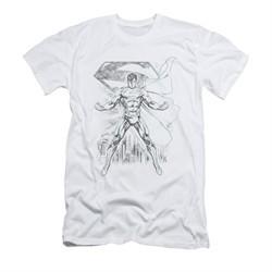Superman Shirt Slim Fit Sketch White T-Shirt