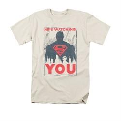 Superman Shirt Watching You Cream T-Shirt