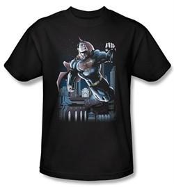 Superman T-shirt DC Comics Night Fight Adult Black Tee Shirt