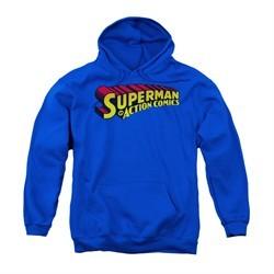 Superman Youth Hoodie Action Comics Royal Kids Hoody
