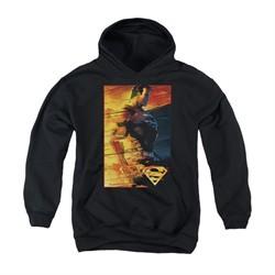 Superman Youth Hoodie Fireproof Black Kids Hoody