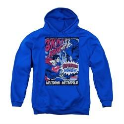 Superman Youth Hoodie Meltdown Royal Blue Kids Hoody