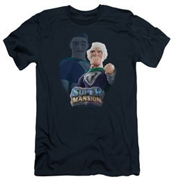 SuperMansion Slim Fit Shirt Titanium Rex Navy Blue T-Shirt