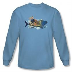 Survivor Shirt Ready Go Long Sleeve Carolina Blue Tee T-Shirt