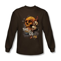 Survivor Shirt Time To Go Long Sleeve Black Tee T-Shirt