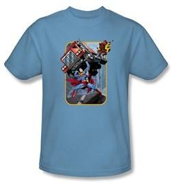 Superman Kids T-shirt Pick Up My Truck Youth Royal Blue Tee Shirt