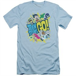 Teen Titans Go Shirt Slim Fit GO! Light Blue T-Shirt