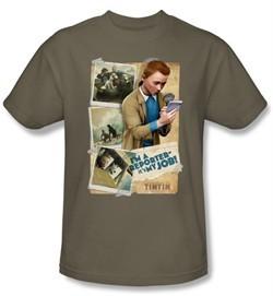 Adventures Of Tintin Kids T-Shirt I'm A Reporter Safari Green Tee