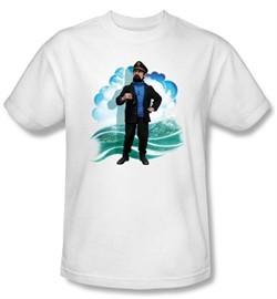 The Adventures Of Tintin Kids T-Shirt Captain Haddock White Tee Shirt