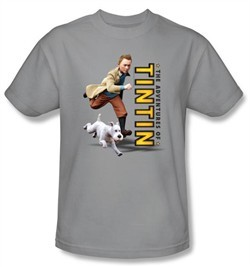 The Adventures Of Tintin Kids T-Shirt ? Come On Snowy Silver Tee Shirt
